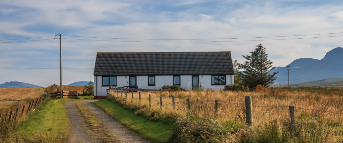 Staffin bay cottages exterior